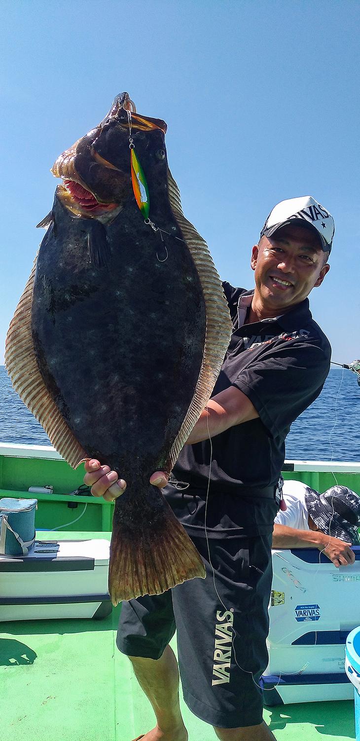 Jigging halibut fishing with VARIVAS Avani Jigging 10x10 Max Power PE X8 #1 line